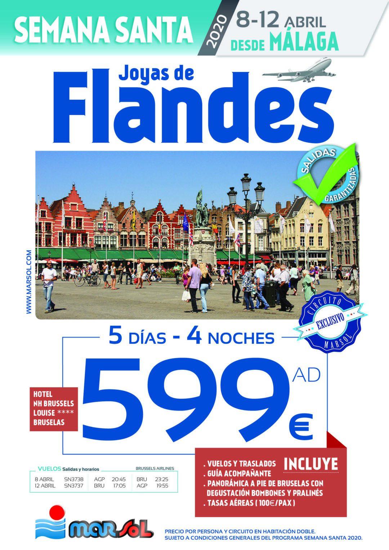 Oferta de viaje: Joyas de Flandes con salida desde Málaga