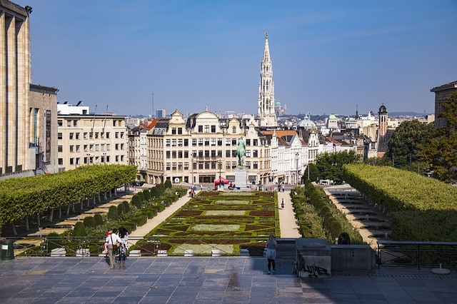Mont Des Arts Town Hall Brussels