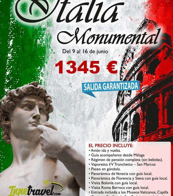 Circuito por Italia Monumental 8 dias